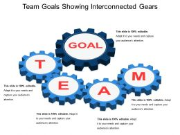 Team Goals Showing Interconnected Gears