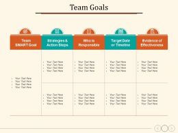 Team Goals Strategies And Action Steps Who Is Responsible