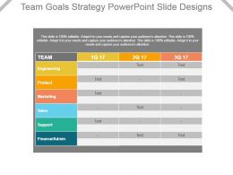 Team Goals Strategy Powerpoint Slide Designs