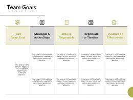Team Goals Strategy Ppt Powerpoint Presentation Summary Professional