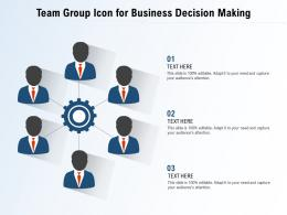 Team Group Icon For Business Decision Making