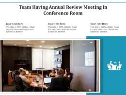 Team Having Annual Review Meeting In Conference Room