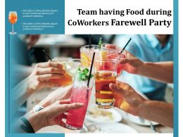 Team Having Food During Coworkers Farewell Party