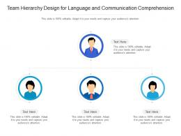 Team Hierarchy Design For Language And Communication Comprehension Infographic Template