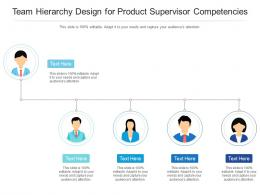 Team Hierarchy Design For Product Supervisor Competencies Infographic Template