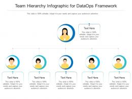 Team Hierarchy For Dataops Framework Infographic Template