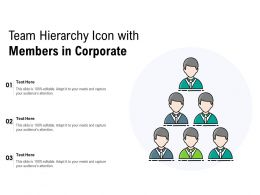 Team Hierarchy Icon With Members In Corporate
