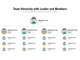 Team Hierarchy With Leader And Members
