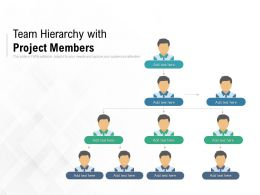 Team Hierarchy With Project Members