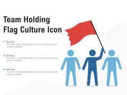 Team Holding Flag Culture Icon
