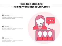 Team Icon Attending Training Workshop At Call Centre