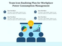 Team Icon Finalizing Plan For Workplace Power Consumption Management