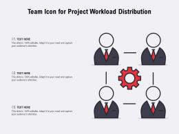 Team Icon For Project Workload Distribution