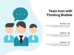 Team Icon With Thinking Bubble