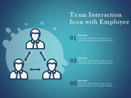 Team Interaction Icon With Employee
