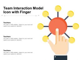 Team Interaction Model Icon With Finger