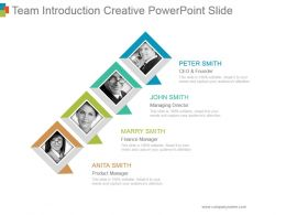 Team Introduction Creative Powerpoint Slide