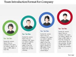 Team Introduction Format For Company Flat Powerpoint Design