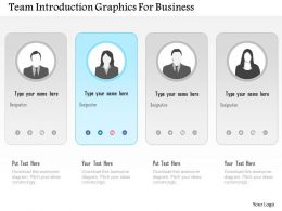 Team Introduction Graphics For Business Powerpoint Templates