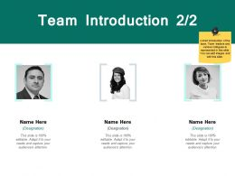 Team Introduction Members J195 Ppt Powerpoint Presentation File Mockup