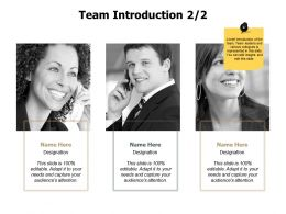 Team Introduction Members J227 Ppt Powerpoint Presentation Gallery Deck