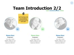 Team Introduction Planning I255 Ppt Powerpoint Presentation Show Template
