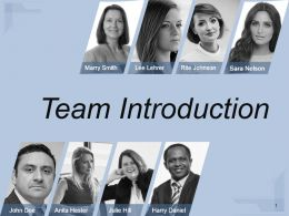Team Introduction Presentation Visuals Sample Of Ppt Presentation