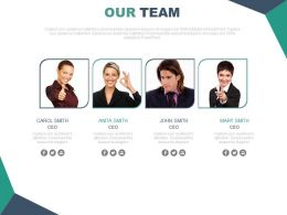 Team Introduction Slide With Pictures Powerpoint Slide