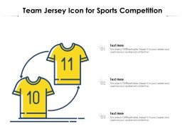 Team Jersey Icon For Sports Competition
