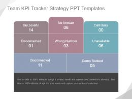 Team Kpi Tracker Strategy Ppt Templates