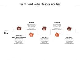 Team Lead Roles Responsibilities Ppt Powerpoint Presentation Inspiration Format Cpb