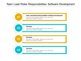 Team Lead Roles Responsibilities Software Development Ppt Powerpoint Presentation Icon Cpb