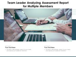 Team Leader Analyzing Assessment Report For Multiple Members