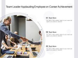 Team Leader Applauding Employee On Career Achievement