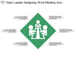 Team Leader Assigning Work Meeting Icon