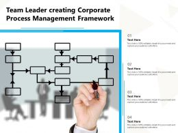 Team Leader Creating Corporate Process Management Framework