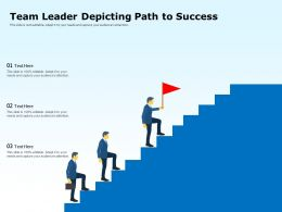 Team Leader Depicting Path To Success