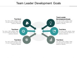 Team Leader Development Goals Ppt Powerpoint Presentation File Influencers Cpb
