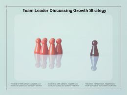Team Leader Discussing Growth Strategy