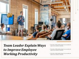 Team Leader Explain Ways To Improve Employee Working Productivity