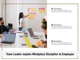 Team Leader Explain Workplace Discipline To Employee