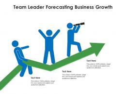 Team Leader Forecasting Business Growth Infographic Template