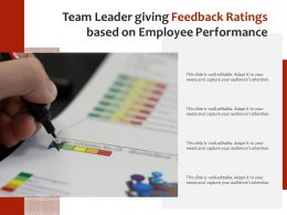 Team Leader Giving Feedback Ratings Based On Employee Performance
