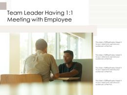 Team Leader Having 1 1 Meeting With Employee