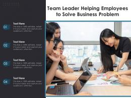 Team Leader Helping Employees To Solve Business Problem