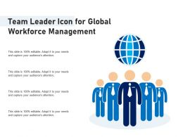Team Leader Icon For Global Workforce Management