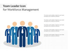 Team Leader Icon For Workforce Management