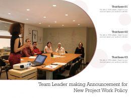 Team Leader Making Announcement For New Project Work Policy