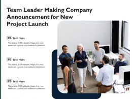 Team Leader Making Company Announcement For New Project Launch