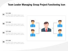 Team Leader Managing Group Project Functioning Icon